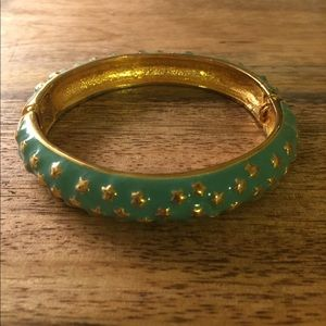 Kenneth Jay Lane turquoise and gold star bangle